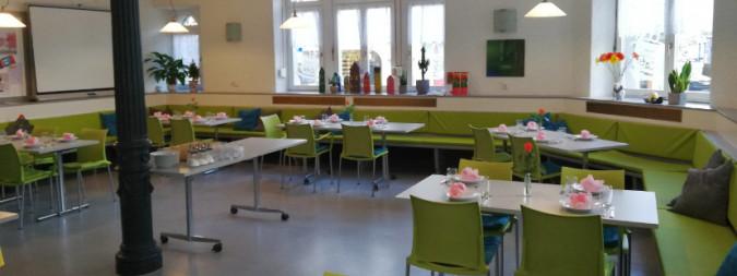Photo des Innenraumes des Schüler-Cafes